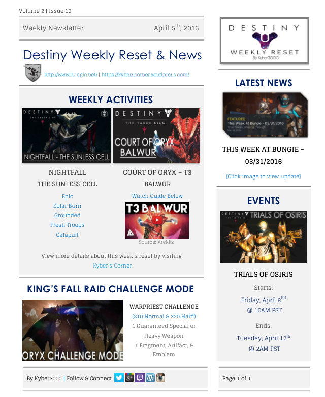 Destiny Weekly Reset 04-05-16 by Kyber3000