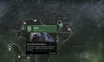 Xur's Location - IO, Giant's Scar