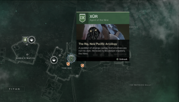 Xur's Location 11-17-17 (Titan, The Rig)