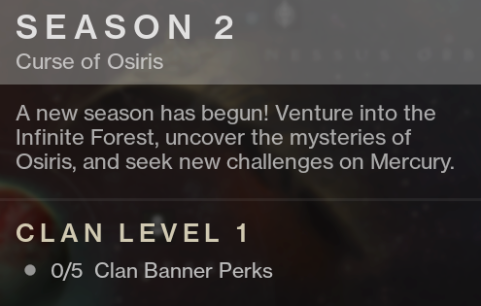 Destiny 2 Season 2 Curse of Osiris