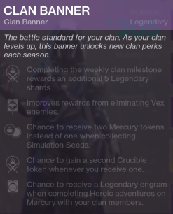 Season 2 Clan Banner Perks