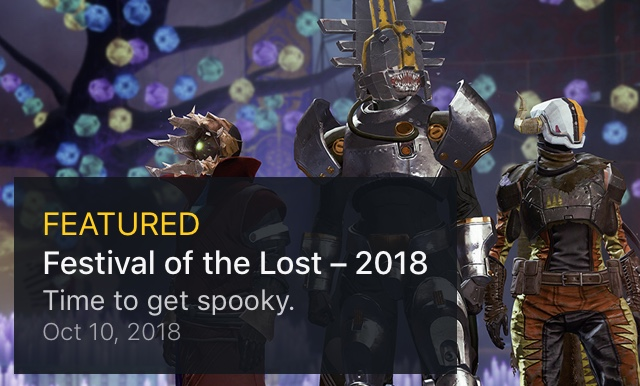 Destiny 2: Festival of the Lost 2018 – Time to get Spooky – Kyber's