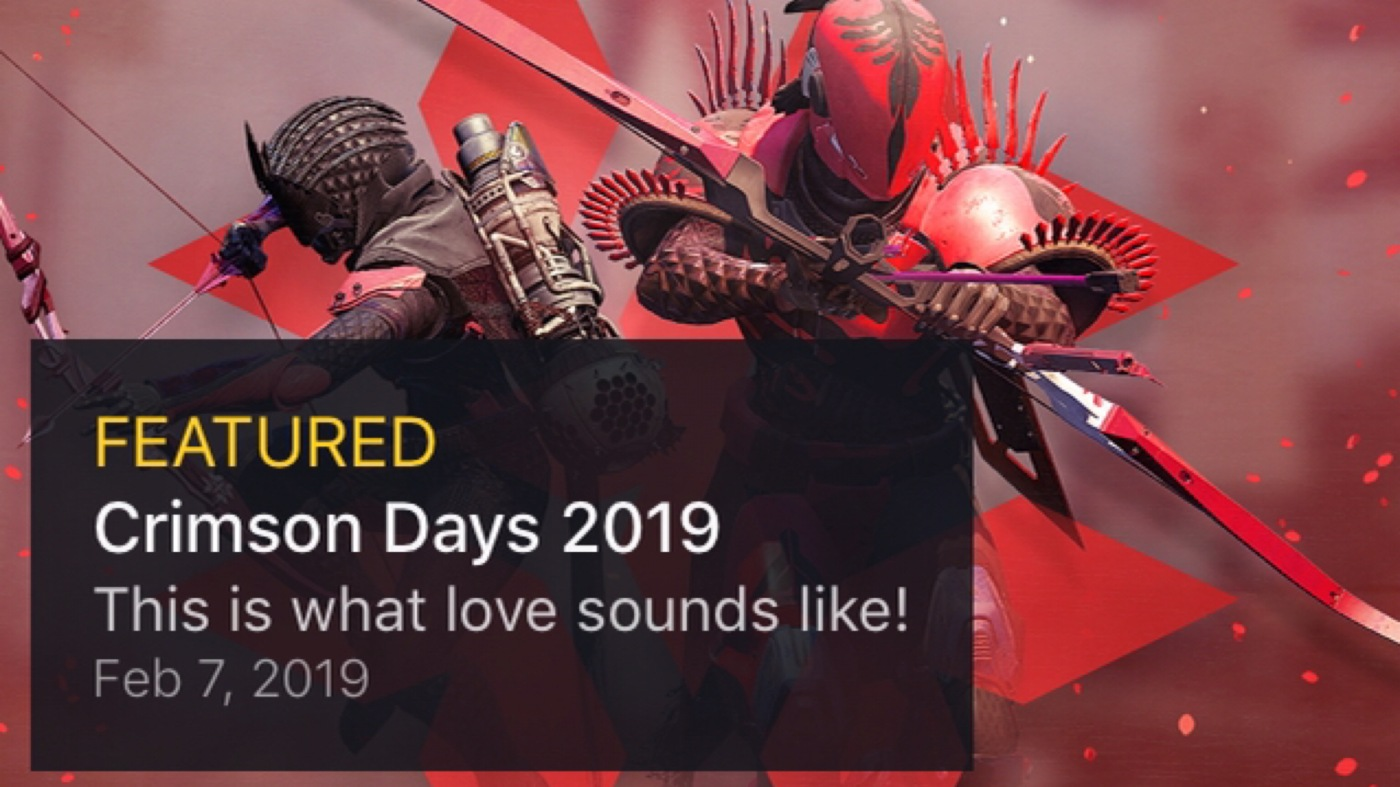 destiny 2 crimson days rewards