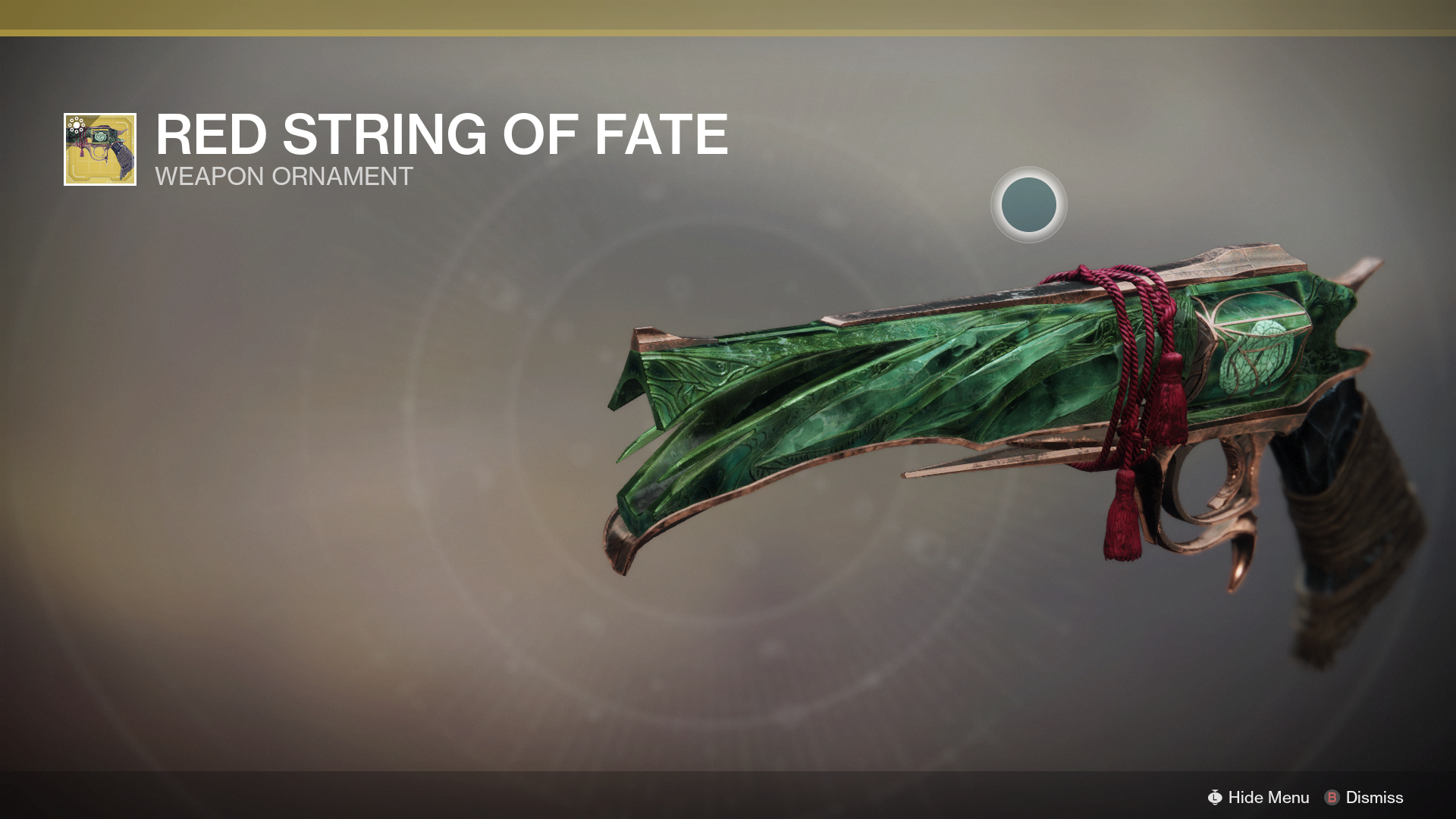 D2 Red String Of Fate Exotic Ornament Eververse Kyber S Corner