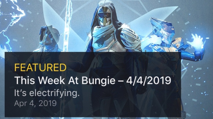 Destiny 2: This Week at Bungie – It's Electrifying – Kyber's