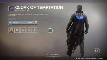 D2 GoS Hunter Cloak