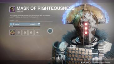 D2 GoS Warlock Helmet
