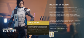 Destiny 2 - Memories of Helsom